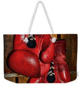 Retired Boxing Gloves Weekender Tote Bag by Paul Ward