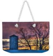Retired Silo Watching Sunset Weekender Tote Bag