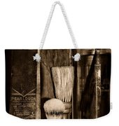 Retro Barber Tools In Black And White Weekender Tote Bag