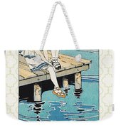 Retro Bathing Apparel Sign Weekender Tote Bag