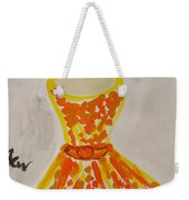 Retro Fall Fashion Weekender Tote Bag