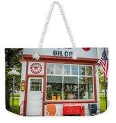 Retro Gas Station Weekender Tote Bag