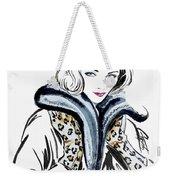 Retro Leopard Fashion Statement Weekender Tote Bag by GG Burns