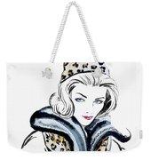 Retro Leopard Fashion Statement Weekender Tote Bag