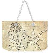 Retro Mermaid Weekender Tote Bag