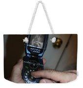 Retro Phone Weekender Tote Bag
