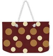 Retro Polka Dot Weekender Tote Bag