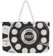 Retro Telephone 1957 Public Telephone Weekender Tote Bag