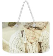 Retro Typist With Dream To Inspire Weekender Tote Bag