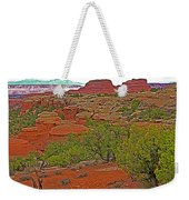 Return Trail To Elephant Hill In Needles District Of Canyonlands National Park-utah Weekender Tote Bag