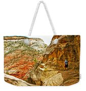 Return Trip On Hidden Canyon Trail In Zion National Park-utah Weekender Tote Bag