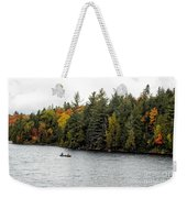 Returning From A Canoe Trip Weekender Tote Bag