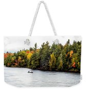 Returning From A Canoe Trip - V2 Weekender Tote Bag