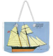 Revenue Cutter Alexander Hamilton Weekender Tote Bag