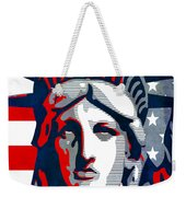 Reversing Liberty 1 Weekender Tote Bag