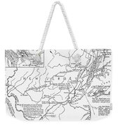 Revolutionary War Map, 1776 Weekender Tote Bag