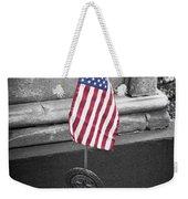 Revolutionary War Veteran Marker Weekender Tote Bag by Teresa Mucha