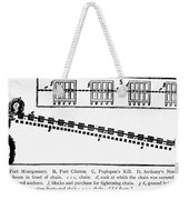 Revolutionay War Plan Weekender Tote Bag