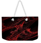 Rhapsody In Red V - Panorama - Abstract - Fractal Art Weekender Tote Bag by Andee Design