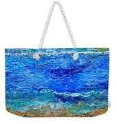 Rhapsody On The Sea Square Crop Weekender Tote Bag