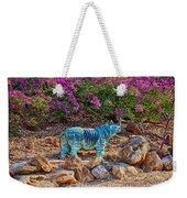 Rhino And Bougainvillea Weekender Tote Bag