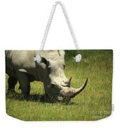 Rhino Covered In Flies Weekender Tote Bag