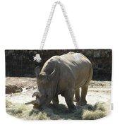 Rhino Eating Weekender Tote Bag