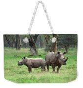 Rhino Family Weekender Tote Bag