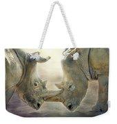 Rhino Love Weekender Tote Bag