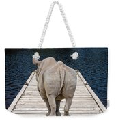 Rhino On The Dock Weekender Tote Bag