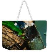 Rhinoceros Beetle Weekender Tote Bag