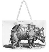Rhinoceros No 76 From Historia Animalium By Conrad Gesner  Weekender Tote Bag