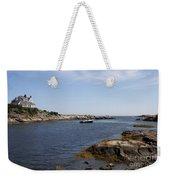 Rhode Island Seascape And House Weekender Tote Bag