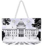Rhode Island State House Bw Weekender Tote Bag