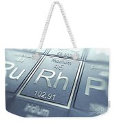 Rhodium Chemical Element Weekender Tote Bag