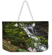 Rhododendron At The Falls Weekender Tote Bag