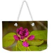 Rhododendron Bud Weekender Tote Bag