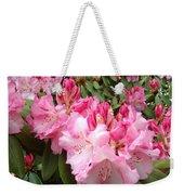 Rhododendron Garden Art Prints Pink Rhodie Flowers Weekender Tote Bag