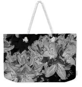 Rhododendron Heaven In Black And White Weekender Tote Bag