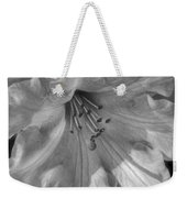 Rhododendron In Black And White Weekender Tote Bag