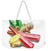 Rhubarb And Ginger Weekender Tote Bag