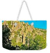 Rhyolite Columns On Ed Riggs Trail In Chiricahua National Monument-arizona Weekender Tote Bag