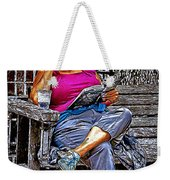 Rhythmic Reading Weekender Tote Bag