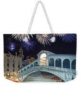 Rialto Bridge Fireworks Weekender Tote Bag