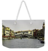 Rialto Bridge Venice Weekender Tote Bag