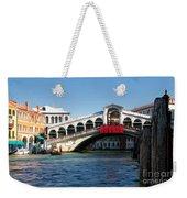 Rialto Bridge Venice Weekender Tote Bag