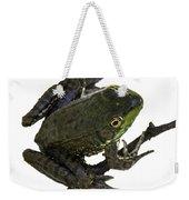 Ribbeting Frog In A Bucket Weekender Tote Bag