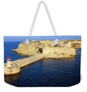 Ricasoli Breakwater At Valletta's Grand Harbor Weekender Tote Bag