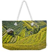 Rice Fields Terraces Weekender Tote Bag