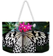 Rice Paper Butterfly On Pink Weekender Tote Bag
